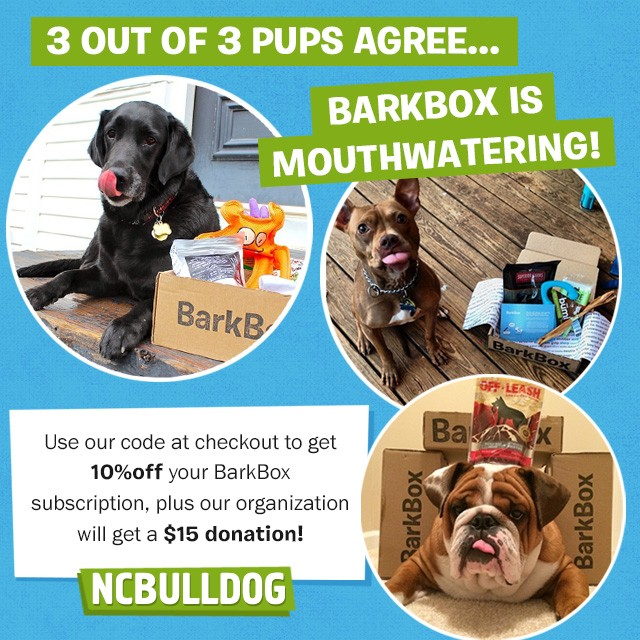 help our rescue by purchasing a BarkBox